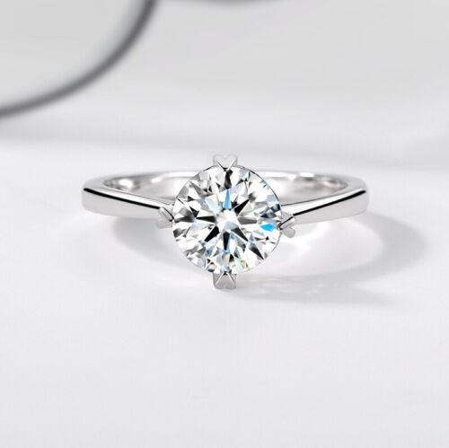 Muye New 925 Sterling Silver 1.9 Ct Moissanite Engagement Rings Women Size 5-10