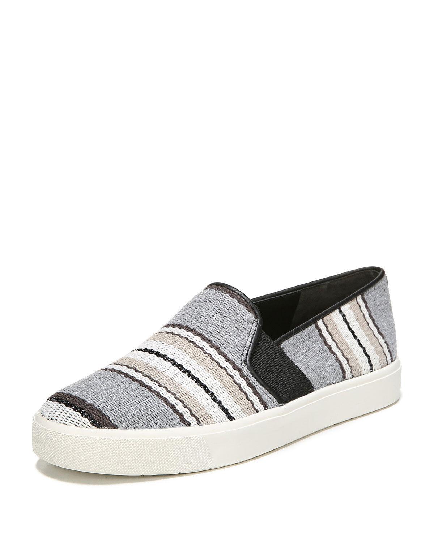 VINCE Blair 12 Striped Fabric Sneaker Flat Sz 10 NWOB  195