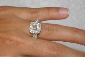 Certified-2-70Ct-Princess-Diamond-Engagement-Bridal-Ring-in-Solid-14K-White-Gold