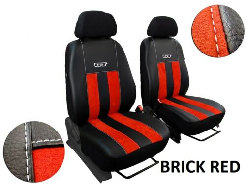 VOLKSWAGEN T4 1989-2003 ECO LEATHER /& ALICANTE TAILORED SEAT COVERS CUSTOM MADE