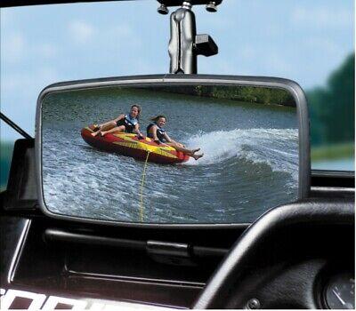 "Universal Marine Rearview Mirror Glass Windshield For 1/"" Bar Ski Boat Watersport"