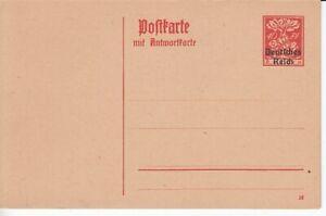 Deutsches-Reich-Ganzsache-P-131-Eichenstamm-mit-Aufdruck