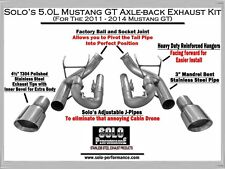 EBAY SALE: Solo Performance Axle Back Exhaust Ford Mustang GT 2011-2014 Coyote