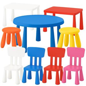 """aussen BPA frei IKEA /""""MAMMUT/"""" Kinder Tisch Stuhl Hocker Sitzgruppe Set innen"""