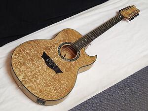 Dean Exhibition Quilt Ash 12 String Acoustic Electric