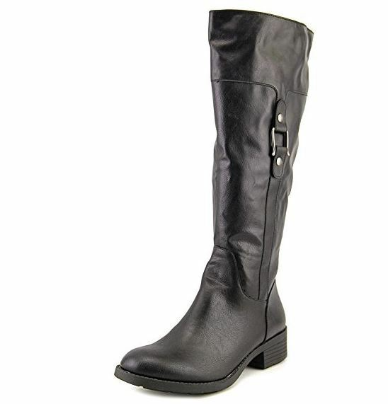 Style & Co. Womens ASTARIE Closed Toe Knee High Riding Boots, Black, Size 6.0