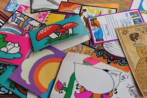 1000-UNUSED-VINTAGE-CARDS-invitations-postcards-NOS-New-Old-Stock-ephemera-RETRO