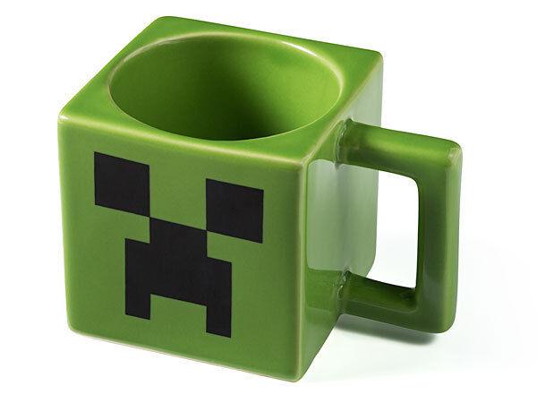 MINECRAFT MUG CREEPER FACE CERAMICS GAME CUP MUG