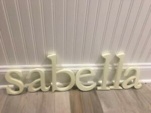 New Pottery Barn Kids Wall Letters 8inch White Lowercase