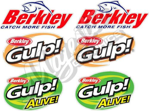 GULP ALIVE BERKLEY BOAT DECALS Set of 6 Decals GULP