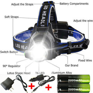 Zoom-90000LM-Rechargeable-T6-LED-Headlamp-18650-Battery-Headlight-Flashlight