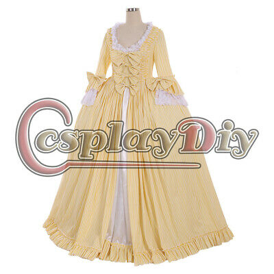 18th Marie Antoinette Day Court Gown Dress Rococo medieval flower print dress