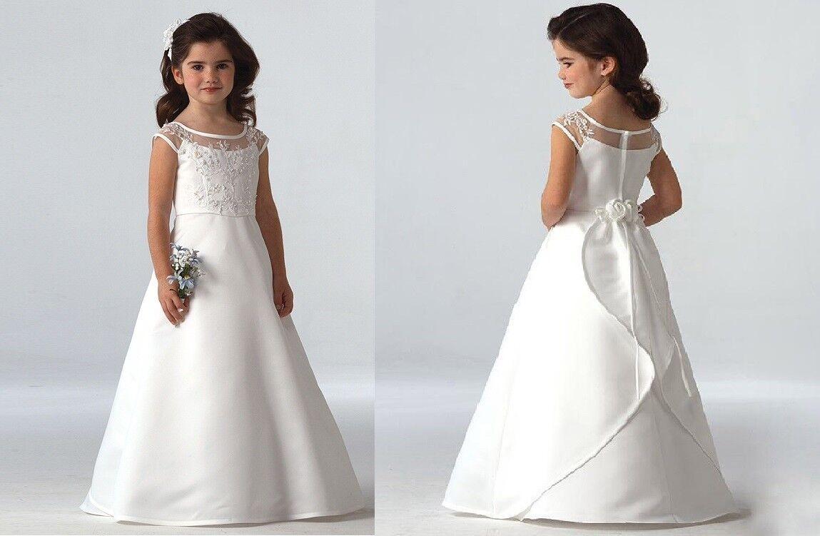 ABAO Children Girl Floor-Length Elegant Lace Wedding Ball Gown Formal Dress ZG8