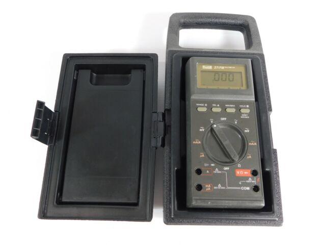 Fluke 27/FM Digital Multimeter w/ Case (good working condition)