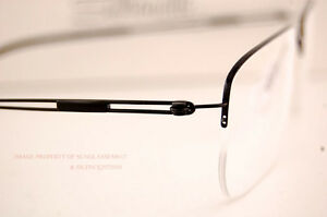 53dd3168b98 New Silhouette Eyeglass Frames TNG Nylor 5279 6055 Black SZ 54 Men ...