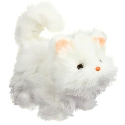 Helpful Battery Operated Walking Meowing Kitten Cat Pet Toy Moves Head & Tail 28774 Electronic & Interactive