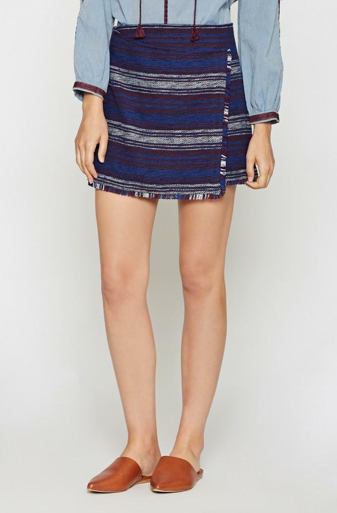 NEW Joie Genae Faux Wrap Skirt in Navy Combo - Size 6