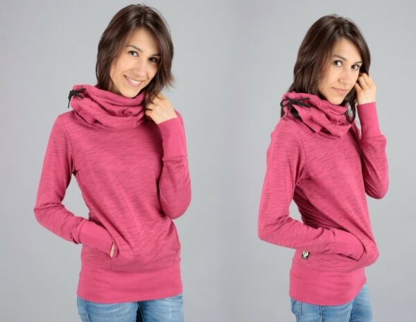 "Ragwear Sweatshirt ""Lomo"", rosa/Holly Berry, Größen: S – L"