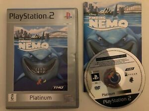 Finding Nemo - Sony PlayStation 2 PS2 PAL Disney Pixar Game with Manual