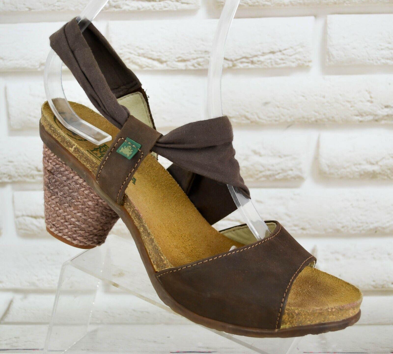 EL NATURALISTA SENDA Womens Leather Casual Heeled shoes Sandals Size 6 UK 39 EU
