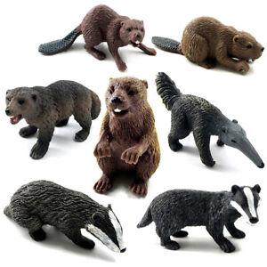 Simulation-Beaver-Badger-Anteater-Wild-Animal-Statue-Figurine-Ornament-CA-CHIC