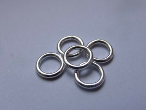 1.2 mm Fil, environ. AWG 16 Sterling Silver Closed Jump Rings Pack De 5
