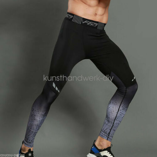 High-elastic Men Compression Leggings Fitness Gym Sport Trousers  Layer Pant