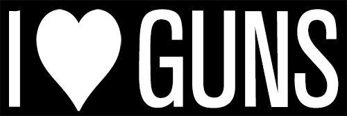 I Love Guns sticker decal Great for Colt Enthusiast Pistol Rifle Shotgun