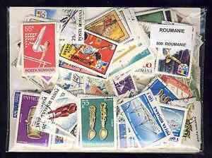 """Roumanie - Romania 500 timbres différents - France - Commentaires du vendeur : """"collection de timbres différents"""" - France"""