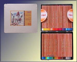 48-Pastellstifte-METALLBOX-Set-von-KOH-I-NOOR-Anspitzer-Pastellkreiden