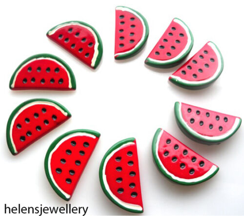 FAST SHIPPING 10 LARGE MELON SLICES KITCH CABOCHONS KAWAII DECODEN
