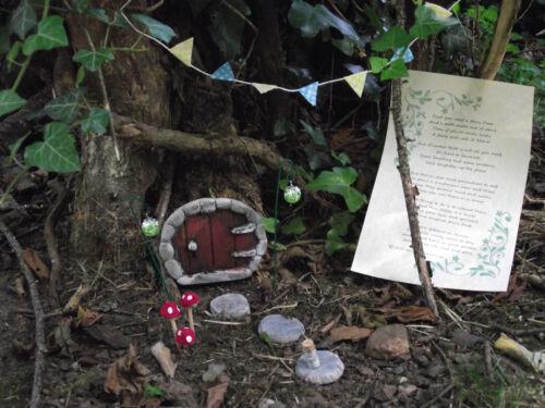 Make your own hobbit style fairy garden 12 Piece Stone Hobbit Door Kit