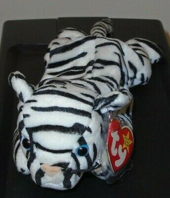"Ty Beanie Baby /""Blizzard/"" The Rare White and Black Tiger  MWMT"