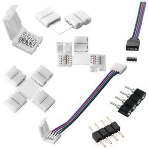 rgb led strip leiste verbinder adapter stecker 4 pin 5050 f r lichterkette ebay. Black Bedroom Furniture Sets. Home Design Ideas