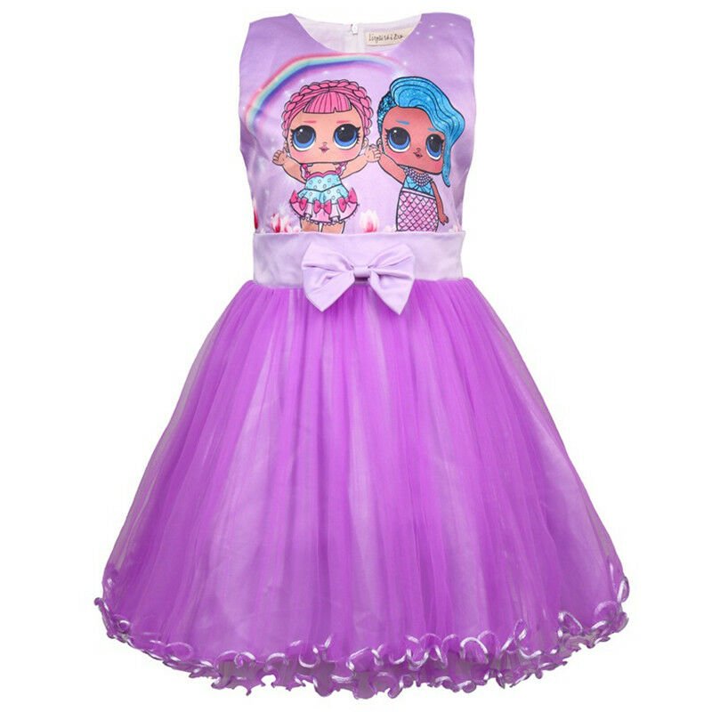LoL Surprise Doll Girls Princess Dress Party Pageant 2-16 Year Holiday festival