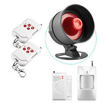 Wireless Home Siren Door Sensor PIR Detector Alarm System Burglar Security US