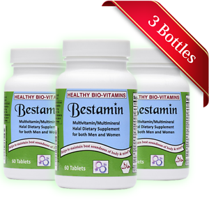 Details about Bestamin Halal Multi Vitamins/Minerals Combo - Made in USA  Healthy Bio-Vitamins