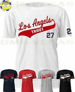 Los Angeles Angels Jersey T-Shirt LOS ANGELS Anaheim Mike Trout Men ... 11c1ed234
