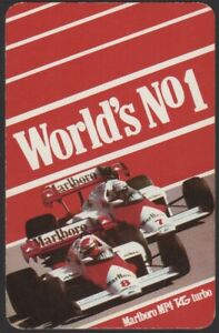 Playing-Cards-Single-Card-Old-MARLBORO-Cigarettes-Advertising-F1-Car-LAUDA-PROST