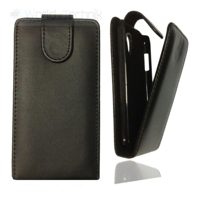 Handytasche für Nokia 225 / 225 Dual, Flip Case Hülle Etui Cover Tasche, schwarz