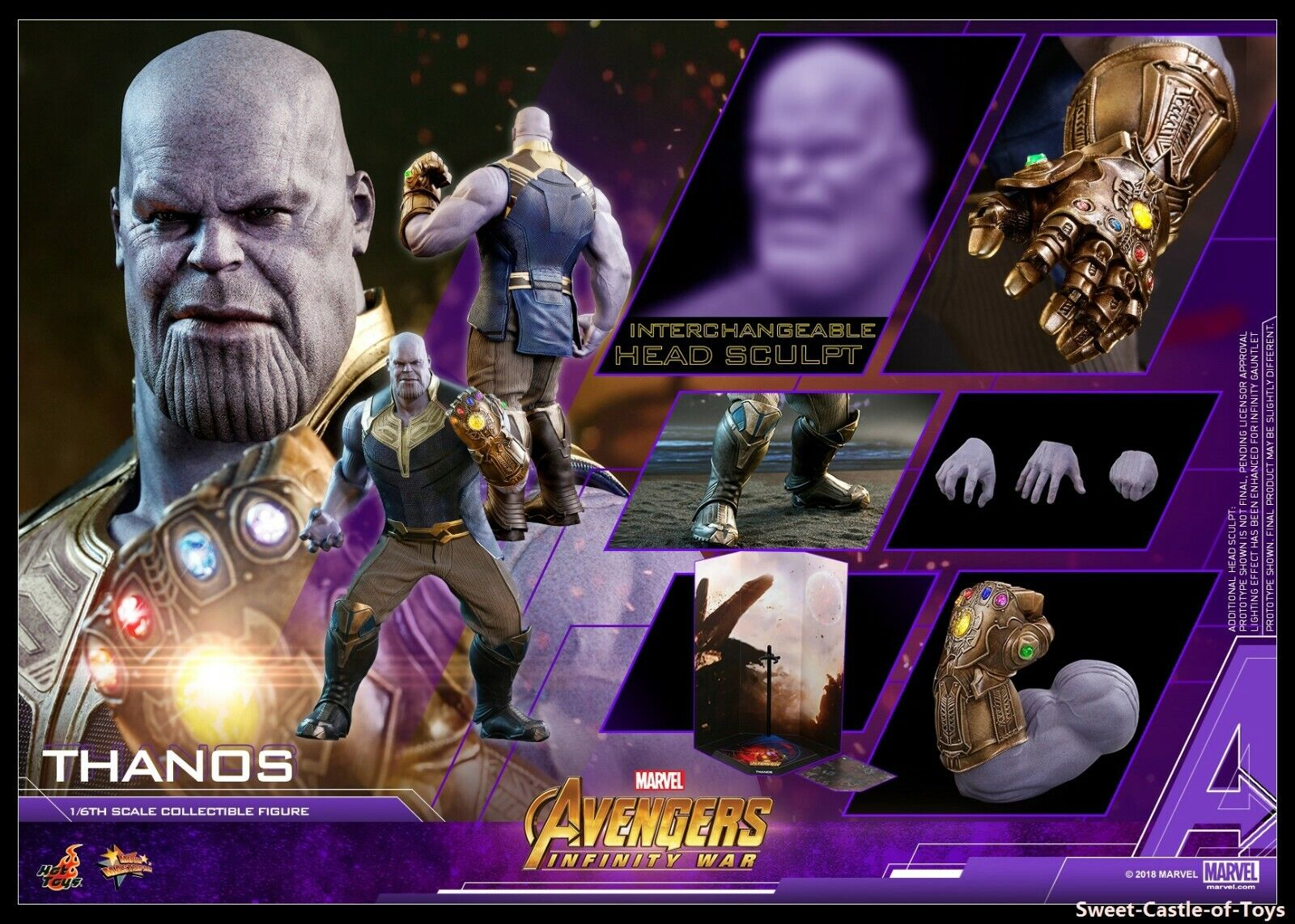 1 6 Hot Toys Marvel Avengers Infinity War Thanos Collectible Figure MMS479