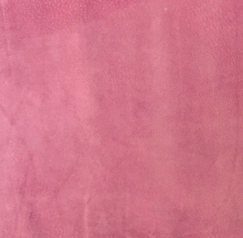Pig Skin Suede Leather 9.25 SQFT Barbie Pink 0.5 MM Thick Soft Velour Feel L4C