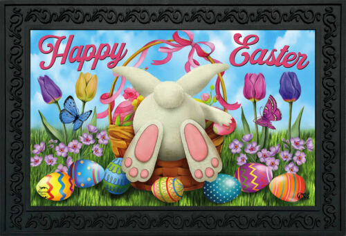"Easter Egg Hunt Doormat Bunny Basket Humor 18/"" x 30/"" Briarwood Lane"
