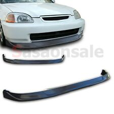 Made for 1996-1998 Honda Civic Coupe Sedan 2dr 4dr TC Style Front PU Bumper Lip