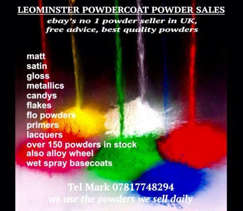 Powdercoating Poudre ANTHRACITE Métallique 1 kg Sac superbe finition!