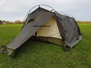 Image is loading British-Army-4-Man-Arctic-Dome-Tent-Unissued- & British Army 4 Man Arctic Dome Tent - Unissued Canvas WITH POLES ...