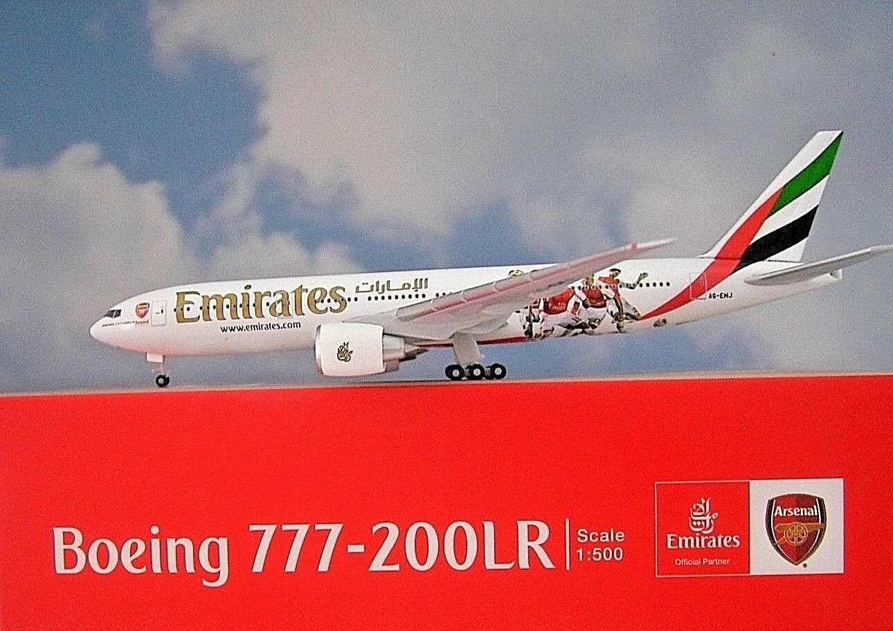 Herpa Wings 1 500 Boeing 777-200lr Emirates Arsenal 529235 modellairport 500