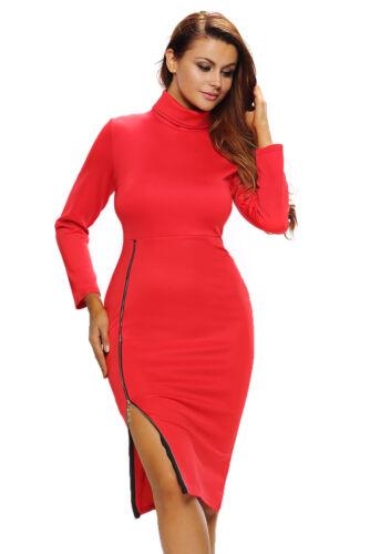 Womens Ladies Midi Dress Plain Jersey Stretch Bodycon Plus Size UK Seller A5