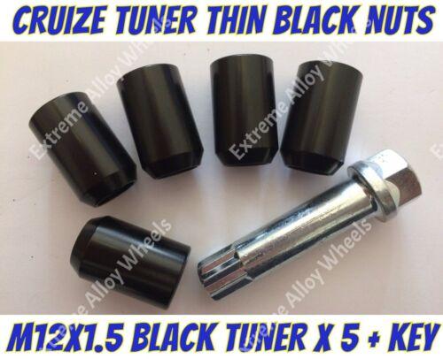 Aleación Tuercas De Rueda Negro Sintonizador X 5 M12x1.5 Mazda 2 3 5 6 serie Cx-3 Cx-5 Cx-7 Cx9