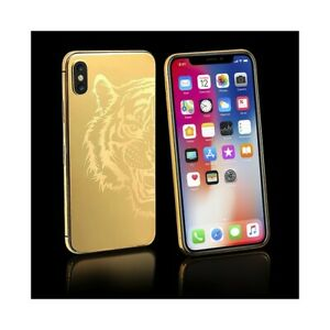 APPLE-IPHONE-X-64GB-GOLD-24K-LIMITED-EDITION-PLACCATO-ORO-CUSTOM-LUXURY-PHONE